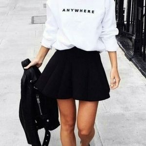 Zara Pleated Skater Skirt